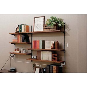 LIXIL すっきり棚 リビング/デスクプラン 木製棚板 パレット・ヴィンティアカラー 【受注生産品】 sukkiridana_plan1|sumai-diy