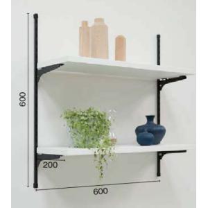 LIXIL すっきり棚 リビングプラン 木製棚板 プレシャスホワイト・クリエカラー 【要在庫確認品】 sukkiridana_plan2|sumai-diy