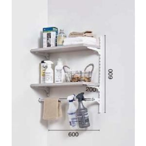LIXIL すっきり棚 洗濯機上プラン 木製棚板 パレット・ヴィンティアカラー 【受注生産品】 sukkiridana_plan3|sumai-diy