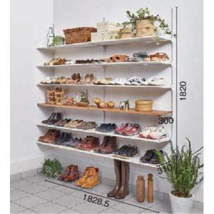 LIXIL すっきり棚 シューズクロークプラン 樹脂棚板+木製棚板  【要在庫確認品】 sukkiridana_plan4|sumai-diy