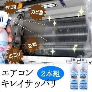 お買い得セット エアコンクリーナー エアコンキレイサッパリ2個組 使い切り|sumairu-com