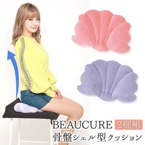 お買い得な2個組!新商品 BEAUCURE 骨盤シェル型クッション 2個組 平子理沙 骨盤 姿勢 骨盤矯正 クッション 美姿勢 ピンク パープル|sumairu-com