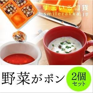 野菜がポン2個セット  冷凍野菜ストッカー 離乳食 作り置き|sumairu-com