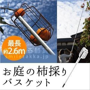 お庭の柿採りバスケット  柿取り棒 柿取り器 アーネスト株式会社 Arnest Inc.|sumairu-com