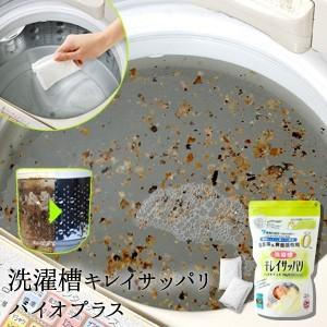 洗濯槽キレイサッパリ バイオプラス 50g小分けパック12個入 洗濯槽用洗剤 洗濯槽クリーナー|sumairu-com