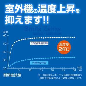 5月20日発売新商品 エアコンの室外機を守ります エアコン 室外機 遮熱 断熱 冷却 冷却効果 遮熱フィルム フィルム|sumairu-com|06