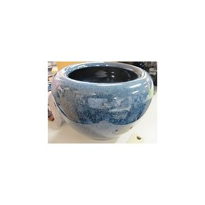 信楽中型火鉢ブルー、H220直320、五徳火箸付|sumi-kurasishop