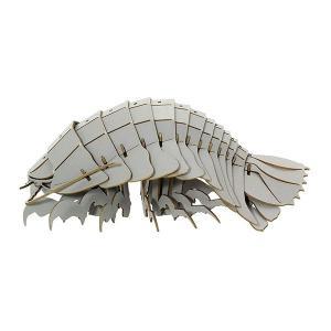 すみだ水族館 3Dペーパーパズル ダイオウグソクムシ グレー メール便対応可|sumida-aquarium|05