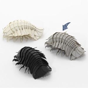 すみだ水族館 3Dペーパーパズル ダイオウグソクムシ グレー メール便対応可|sumida-aquarium|06
