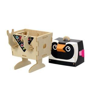 すみだ水族館 オリジナル プレイデコ 木製パズル ブラウニー タイプ ペンギン ロボット|sumida-aquarium|03