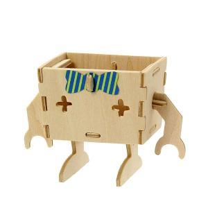 すみだ水族館 オリジナル プレイデコ 木製パズル ブラウニー タイプ ペンギン ロボット|sumida-aquarium|05