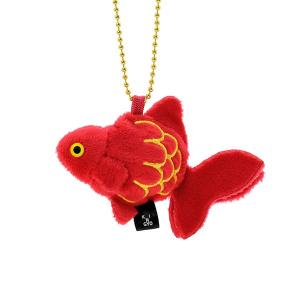 すみだ水族館 金魚鈴 リュウキン 赤 キーホルダー ぬいぐるみ|sumida-aquarium