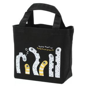 すみだ水族館 チンアナゴ&ニシキアナゴ キャンパス トートバッグ Sサイズ 黒 ブラック|sumida-aquarium
