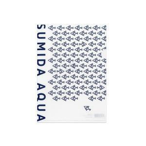 すみだ水族館 オリジナル ロゴデザイン A5クリアファイル ブルー / ホワイト|sumida-aquarium|05