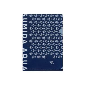 すみだ水族館 オリジナル ロゴデザイン A5クリアファイル ブルー / ホワイト|sumida-aquarium|04