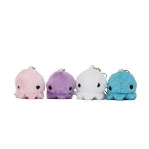 すみだ水族館 ムニュマム クラゲ ストラップ (ホワイト/ピンク/ブルー/パープル) ぬいぐるみ|sumida-aquarium