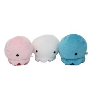 すみだ水族館 ムニュマム クラゲ Mサイズ (ホワイト/ピンク/ブルー) ぬいぐるみ|sumida-aquarium