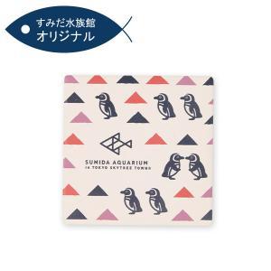 すみだ水族館 オリジナル 白雲石吸水コースター ペンギン|sumida-aquarium