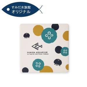 すみだ水族館 オリジナル 白雲石吸水コースター クラゲ|sumida-aquarium