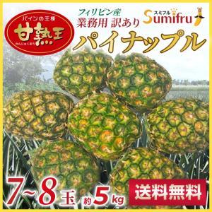 訳ありパイナップル 小玉 7~8玉(約5キロ) 送料無料 糖...