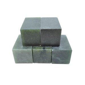 篆刻 印材 丹東黒緑凍石 3cm/1個|sumimozi