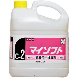 業務用食器用洗剤 マイソフト  4kg×4本【代引不可】|sumiten