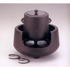 【送料無料】南部鉄器 茶の湯釜 肩付筒銅蓋付【代引不可】|sumiten