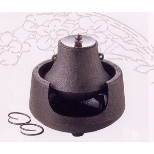 【送料無料】南部鉄器 茶の湯釜富士型銅蓋付【代引不可】|sumiten