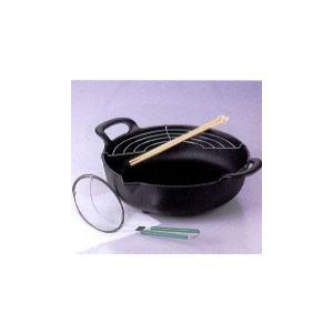 南部鉄器 鉄鍋 天ぷら鍋 丸型【代引不可】|sumiten