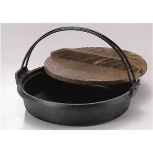 南部鉄器 鉄鍋 すき焼き兼餃子鍋ツル付【代引不可】|sumiten