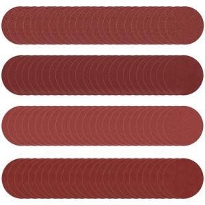 紙やすり 丸形 サンドペーパー 耐水 直径 125mm 25枚×4種類 100枚セット SN-189...