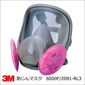 防塵マスク 3M 6000F/2091-RL3 取替え式防じんマスク 全面体 summy-net