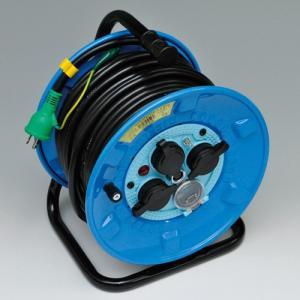 日動工業 電工ドラム 防雨・防じん型ドラム 屋外型 NPW-EB33 30M アース・プレーカー付|summy-net