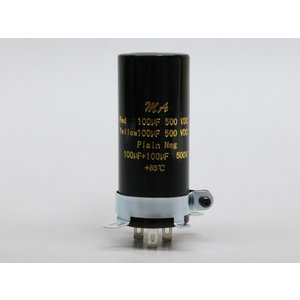 DC500V 100μF×2 電解コンデンサー|sumtech01
