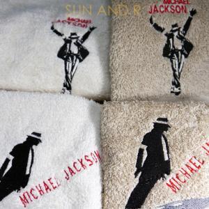 ☆今治タオル 仕様☆2枚セット マイケルジャクソン ♪Smooth Criminal♪ ♪THIS IS IT♪フェイスタオル|sun-a-r