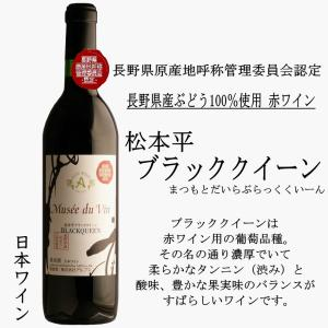ミュゼ ドゥ ヴァン 松本平ブラッククイーン 赤ワイン 長野県産ぶどう100%使用 アルプスワイン ...