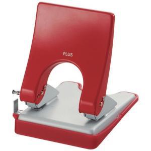 PLUS (プラス) 2穴パンチ フォース1/2 Mサイズ PU-830A【2穴】【穿孔能力: 30枚】【カラー: レッド】|sun-busicom