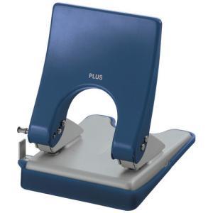 PLUS (プラス) 2穴パンチ フォース1/2 Mサイズ PU-830A【2穴】【穿孔能力: 30枚】【カラー: ブルー】|sun-busicom