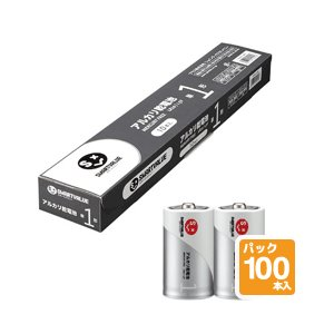 JOINTEX (ジョインテックス) アルカリ乾電池 N121J-2P-50【単1形】【100本入】|sun-busicom