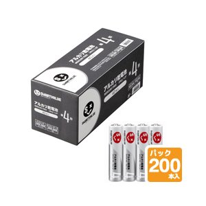 JOINTEX (ジョインテックス) アルカリ乾電池 N124J-4P-50【単4形】【200本入】|sun-busicom