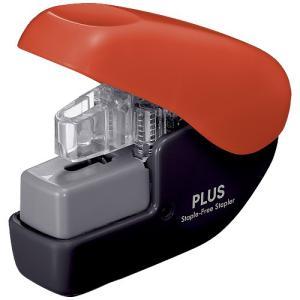 PLUS (プラス) 針なしホッチキス ペーパークリンチミニ SL-104NB【とじ枚数: 2〜4枚】【カラー: ブラック/レッド】|sun-busicom