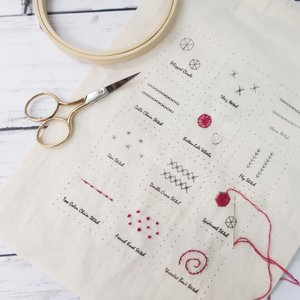 フランス刺繍が学べるステッチサンプラーキット1【特】  044-00002|sun-k