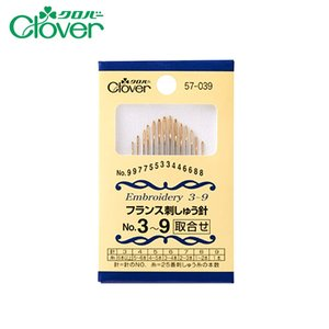 078-00028 フランス刺しゅう針No3〜9(14本入)|sun-k