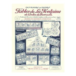 319-00021 刺繍と編み物 図案集 ラ・フォンテーヌ寓話とペローの昔ばなし|sun-k