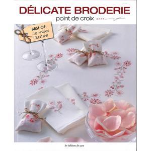 449-0272 DELICATE BRODERIE POINT DE CROIX|sun-k