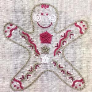 ジンジャークッキーのクリスマスカード 東京キルト&ステッチショー2019ワークショップ|sun-k