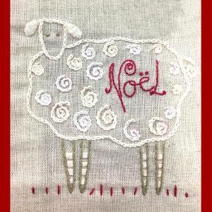羊のクリスマスカード 東京キルト&ステッチショー2019ワークショップ|sun-k