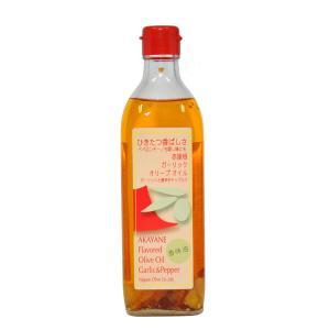 赤屋根ガーリックオリーブオイル 450g スペイン自社農園産ピュアオリーブオイル 日本オリーブ