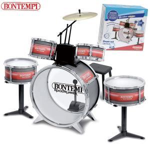 Bontempi ボンテンピ メタリックシルバードラムセット 6pcs 514830 知育玩具 sun-wa