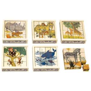 アトリエフィッシャー 六面体パズル・16pcs・動物 AF1601 知育玩具|sun-wa